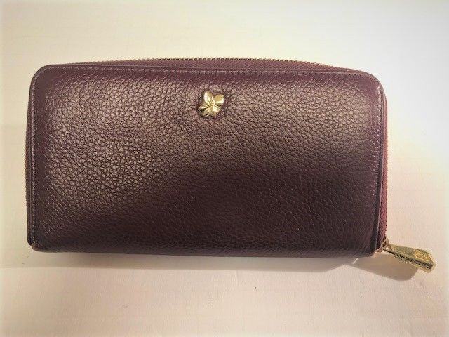129eb04abd7 Ora Delphine Zip Around Wallet red pebble leather  fashion  clothing  shoes   accessories  womensaccessories  wallets (ebay link)