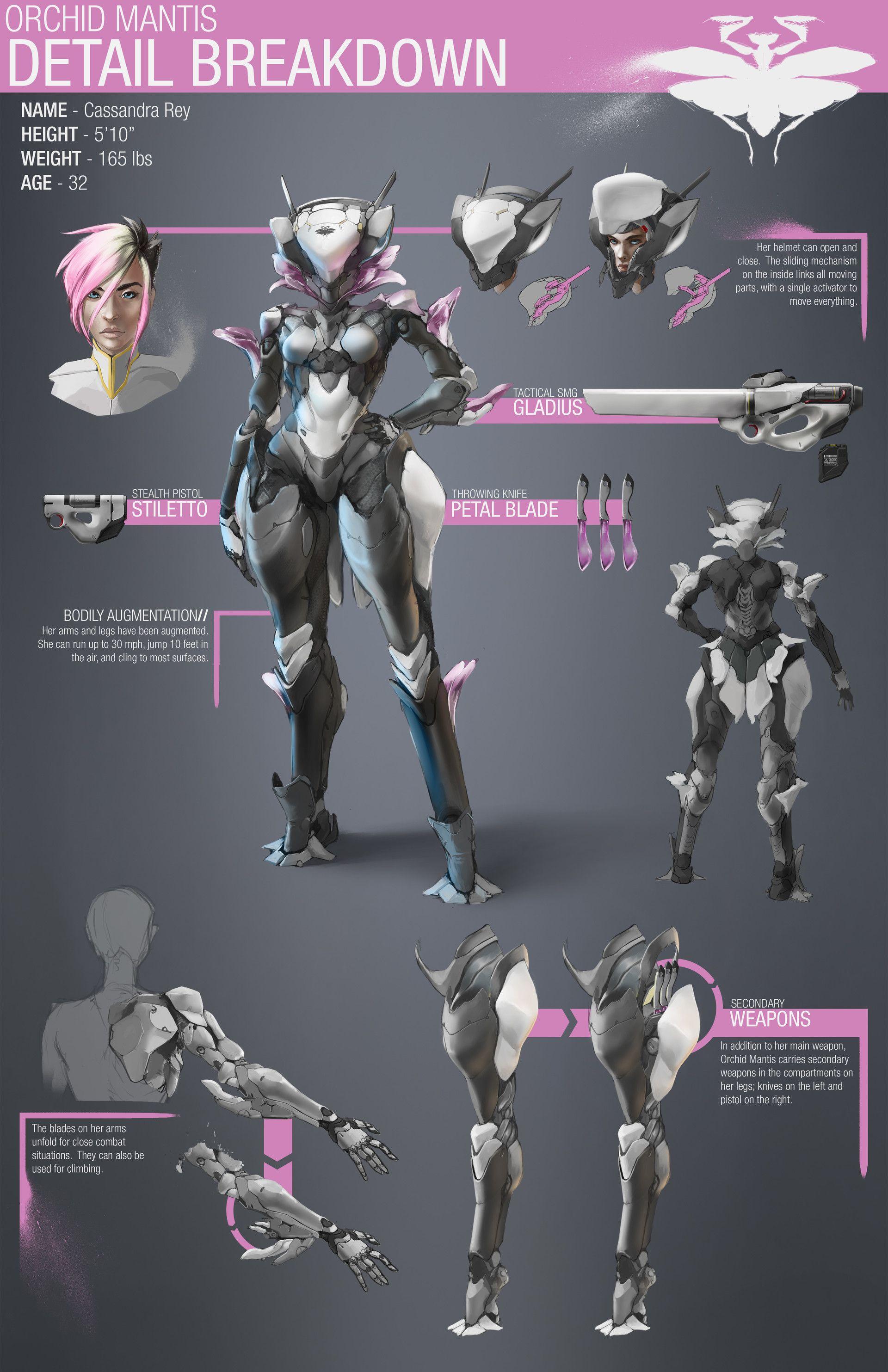 Artstation The Orchid Mantis Project Nick Edinger Armor