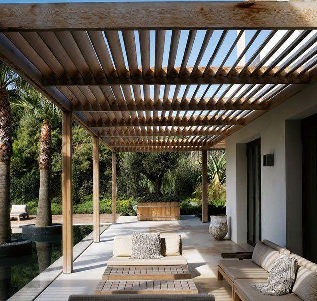 Pergolas de madera p rgolas de aluminio p rgolas con for Techos modernos para patios