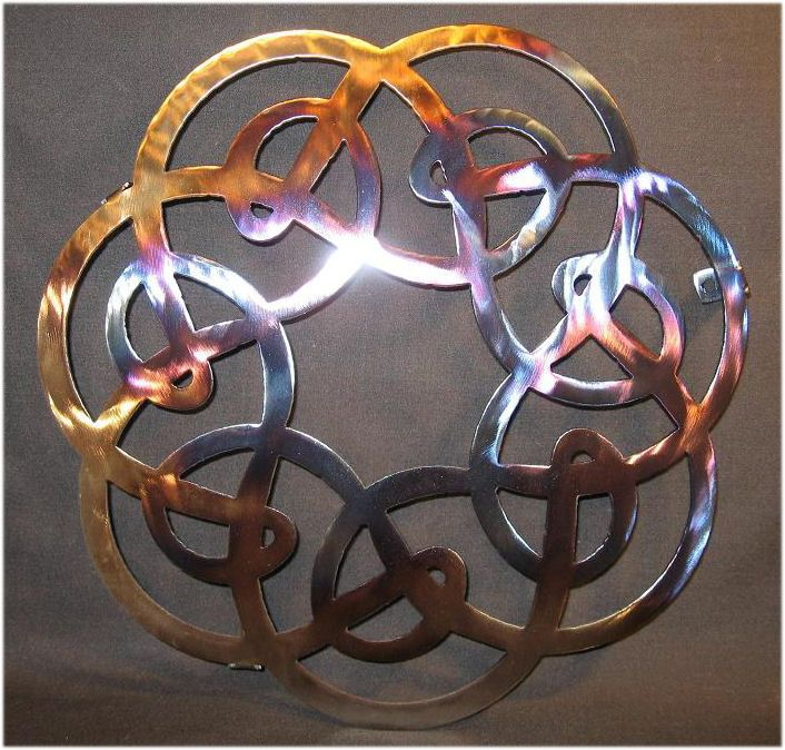 Metal celtic Sculptures f | celtic symbols wall art | For ...