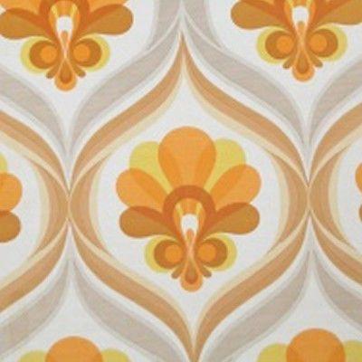 1970s Geometric Grace Vintage Original Floral Wallpaper 60s 70s