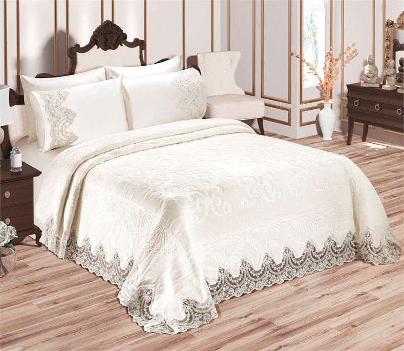 iklil espace deco iklil couvre lit blanc couvre et lit blanc. Black Bedroom Furniture Sets. Home Design Ideas