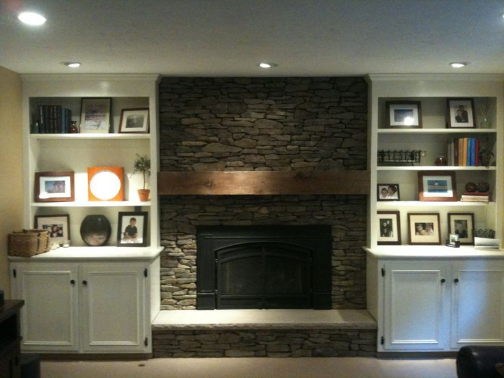 fireplace with built in bookshelves from erin 39 s renovation new fireplace with built in. Black Bedroom Furniture Sets. Home Design Ideas