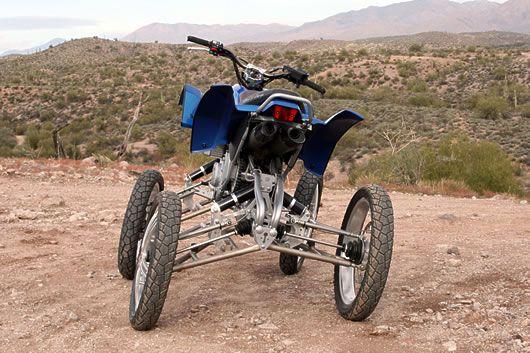 Wesll Quad Prototype 4 Wheel Leaning Suspension Quad Reverse