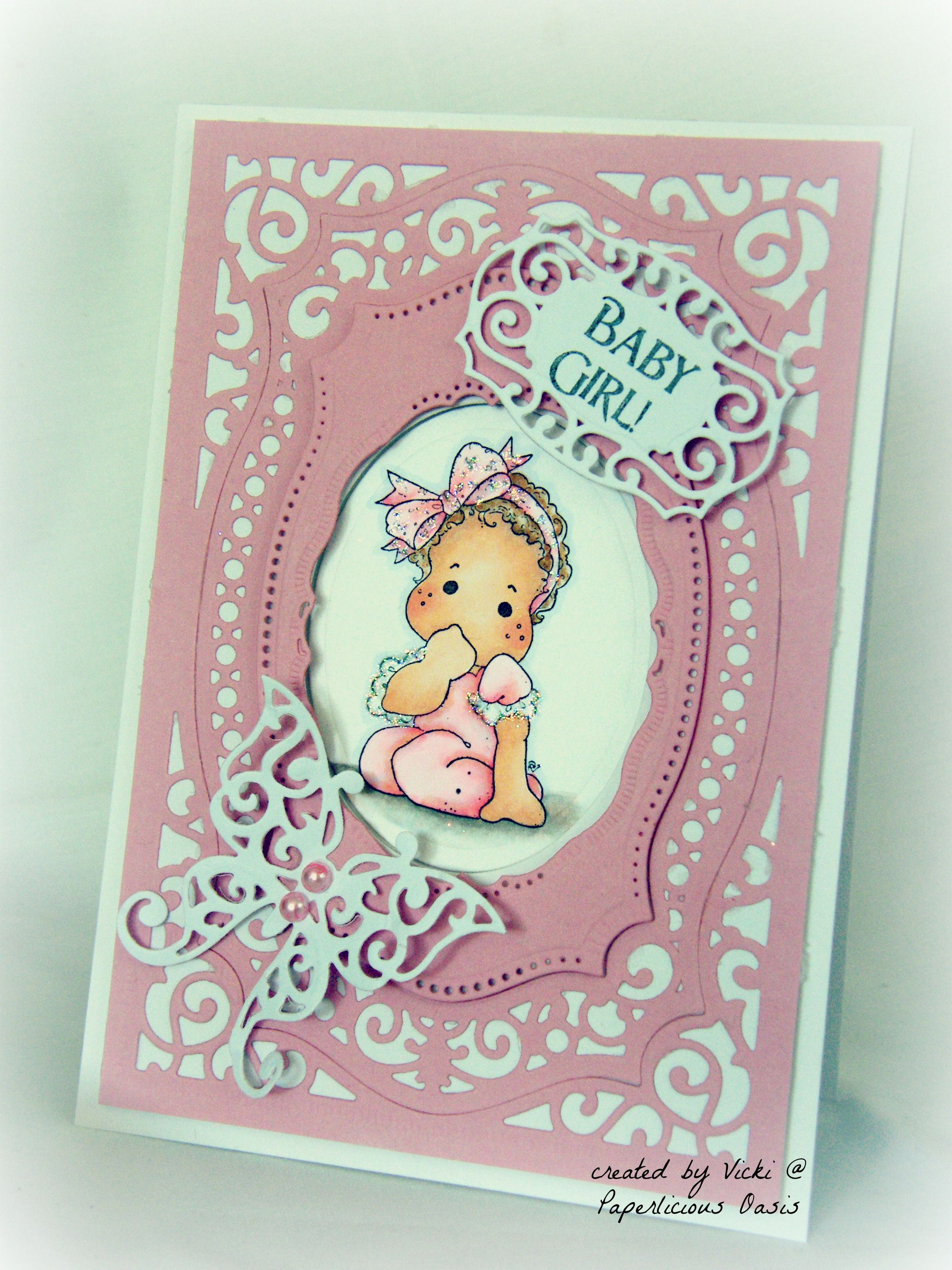 Baby girl card using magnolias little cute tilda and spellbinder baby girl card using magnolias little cute tilda and spellbinder majestic labels 25 paperlicious oasis m4hsunfo