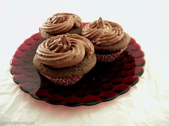 chocolate cupcakes with cocoa powder