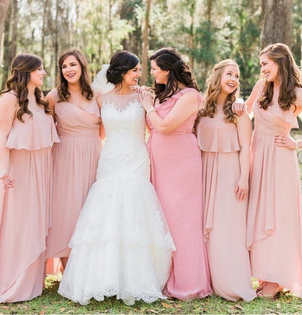 A real Vow wedding! Our blushing bride Lanissa & her bridesmaids in ...