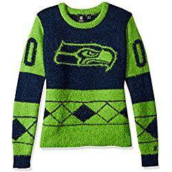 size 40 a0c8c 22983 NFL Seattle Seahawks Women's Eyelash Ugly Sweater, Medium ...