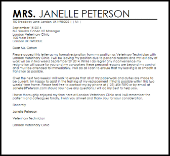 letter of resignation hostile work environment