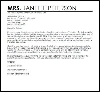 Resignation Letter Template Hostile Work Environment