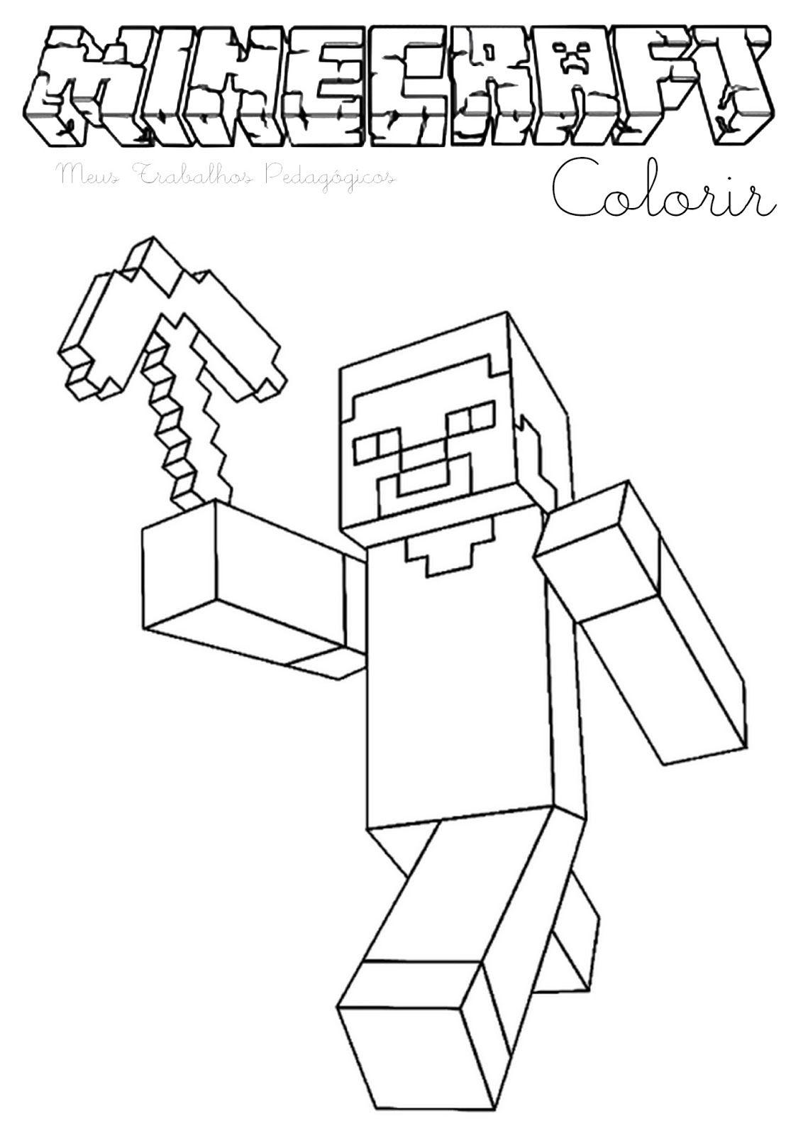 Desenhos De Minecraft Para Colorir E Imprimir Com Imagens