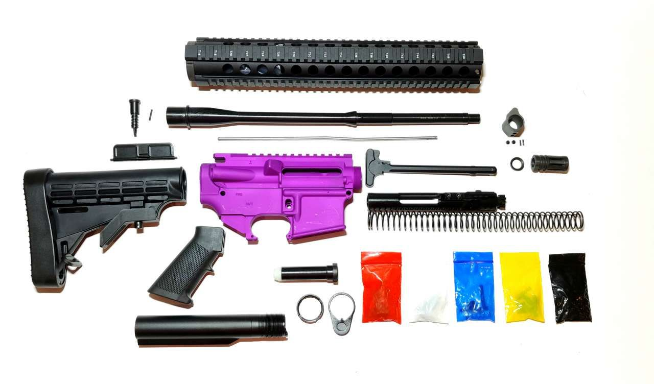 BLEM AR-15 RIFLE KIT – 16″ 5 56 NATO NIITRIDE PENCIL BARREL