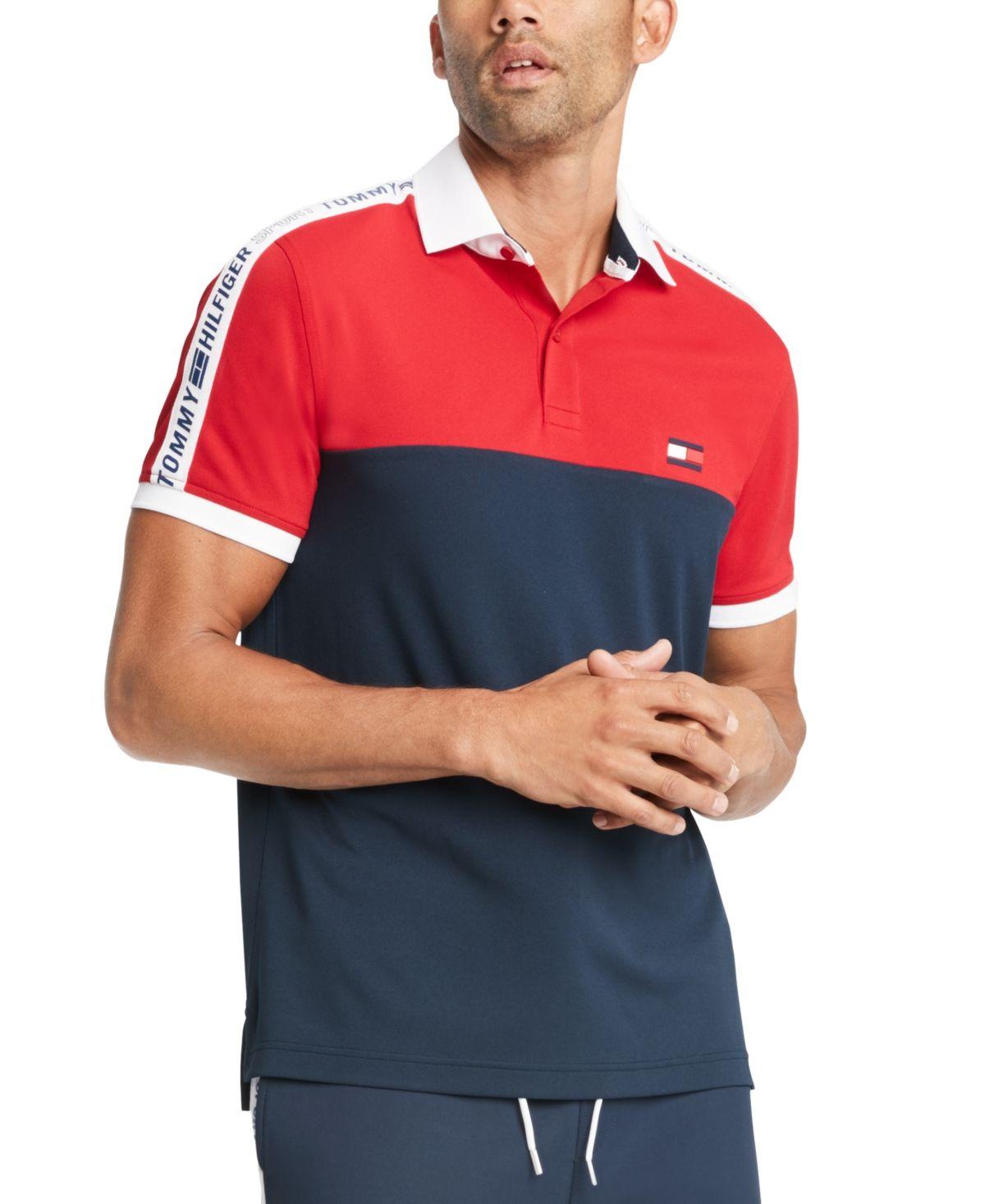 Tommy Hilfiger Men's Big & Tall Nilsson Logo Colorblock Polo Shirt ...