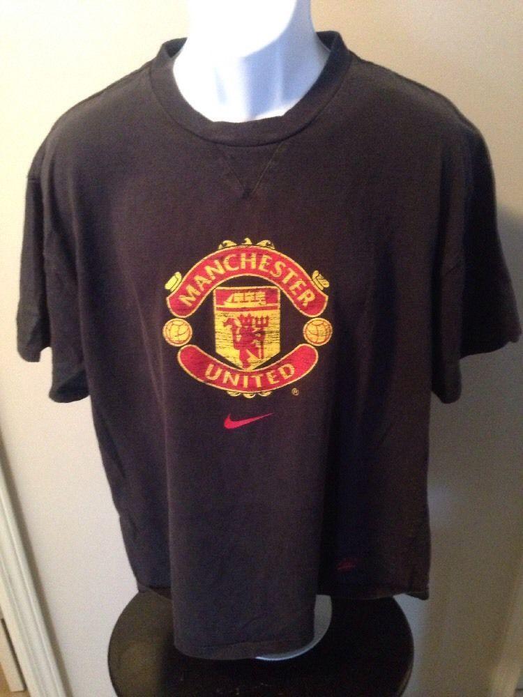 0cc410b70 Vintage Manchester United Black Tshirt By Nike Size Xlarge  Nike   ManchesterUnited
