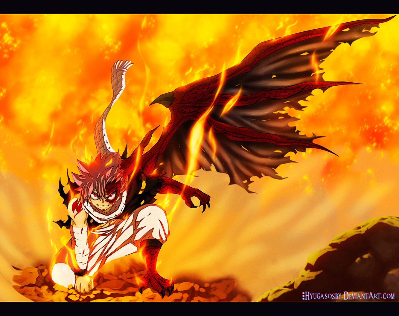 Natsu Dragneel Half Dragon Transformation Cool Fairy Tail Read Fairy Tail Fairy Tail Manga Fairy Tail Movie