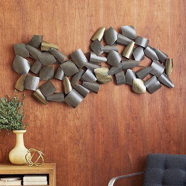 Curved Metal Wall Art Westelm Really Cool For Above Your Bed