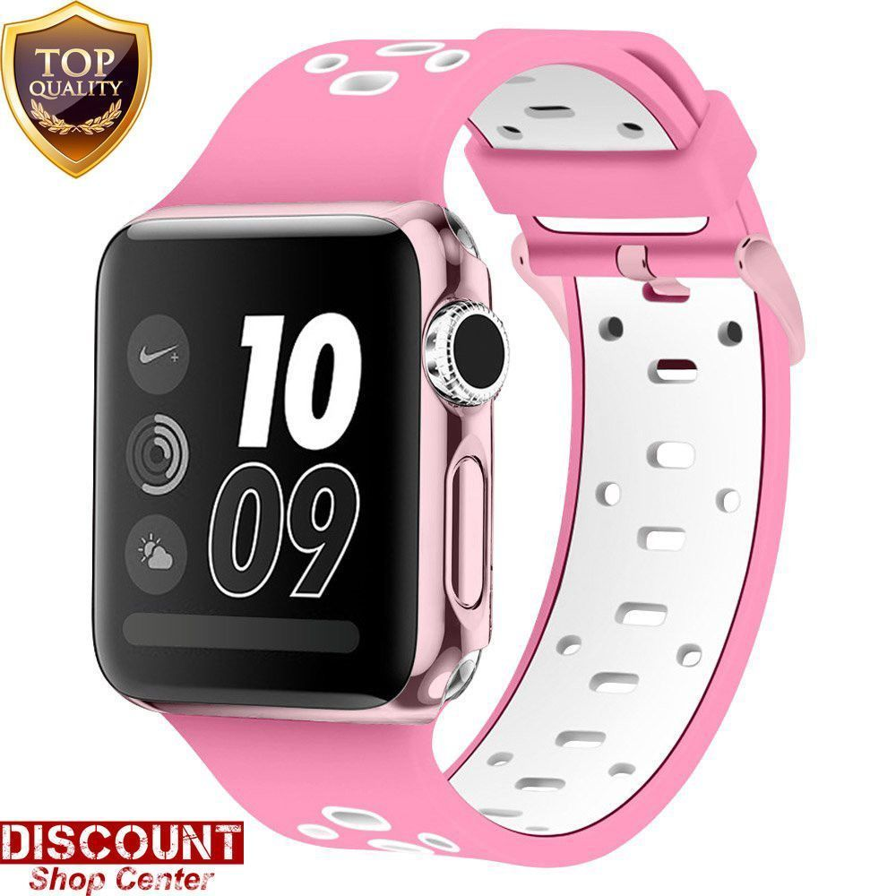 For Apple Watch Strap Band Sport 42mm Silicone Buckle