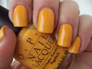 Opi The It Color I Pretty Much Love Anything Mustard Colored