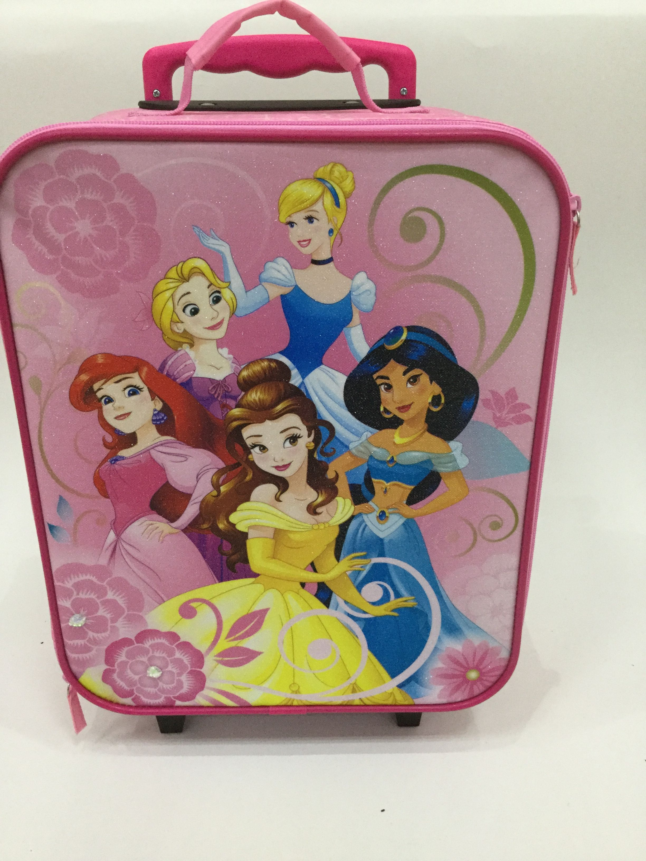 7d8fd586002a Beautiful princess pink trolley bag for little girl