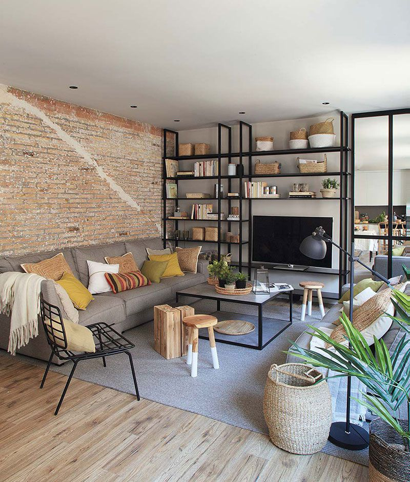 Cozy apartment with industrial elements in Barcelona (с ...