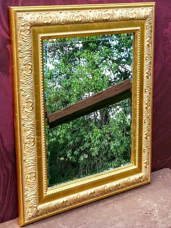 Vintage Excellent Ornate Gold Mirror Beveled Baroque Mirror Framed Mirror Large Mirror Gold Ornate Mirror Hanging Mirror Gold Mirror Gold Framed Mirror Gold Ornate Mirror Mirror Artwork