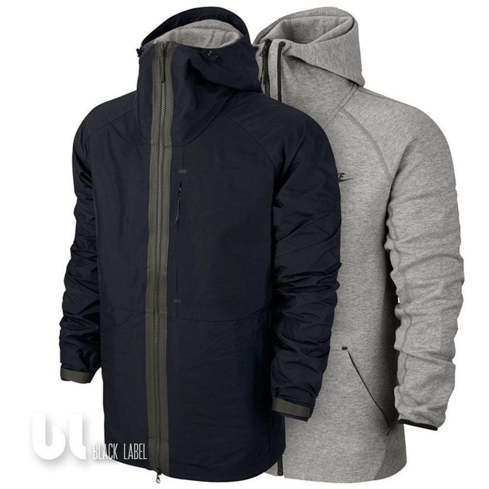 Nike 2in1 Tech Fleece Jacke Windrunner Herren Winter Jacke