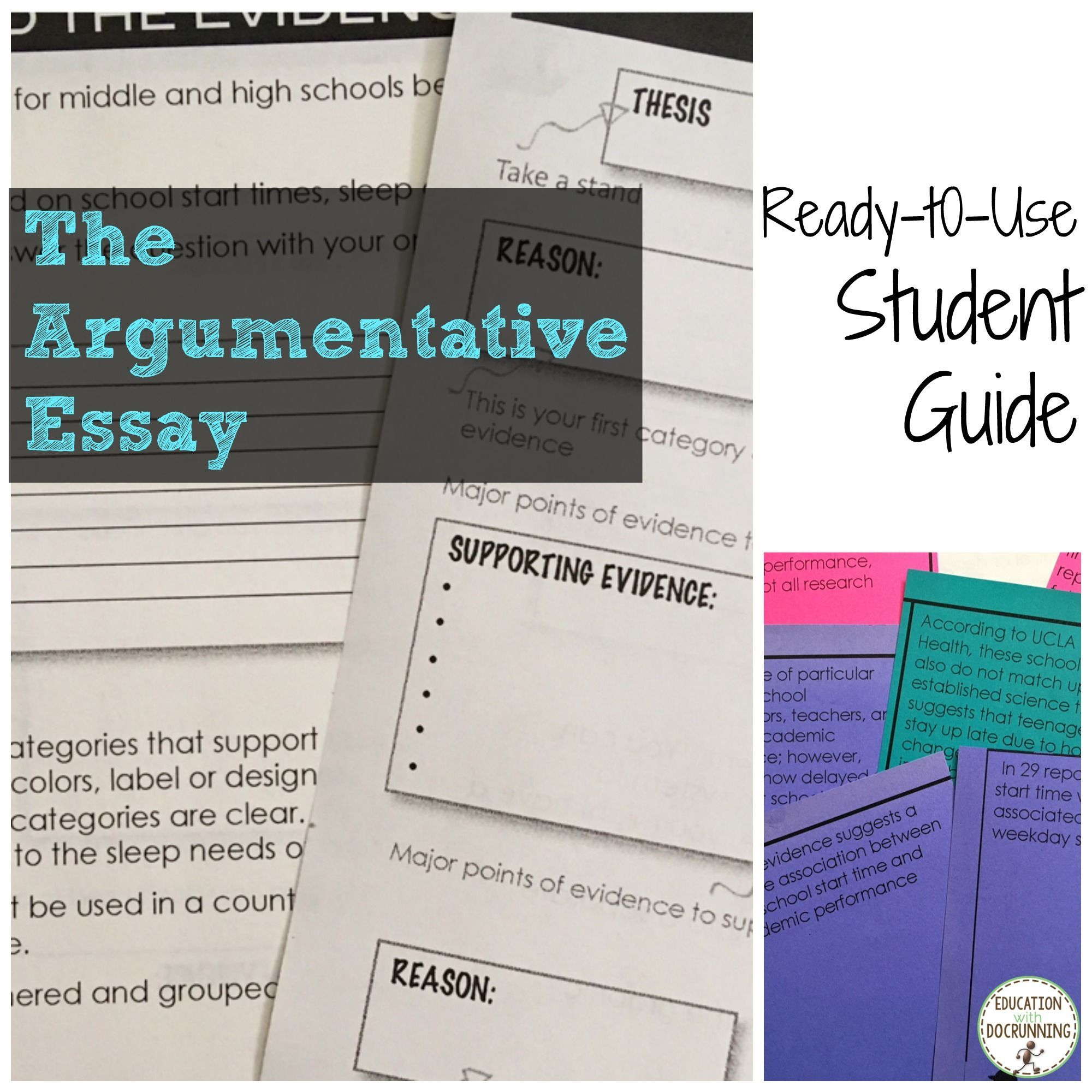 Everything students need to learn how to write an argumentative