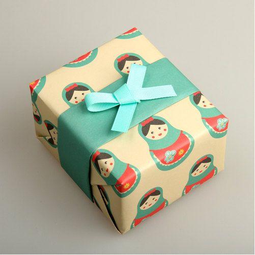 Pattern wrapping paper 10 set matryoshka by Harvard5f on Etsy