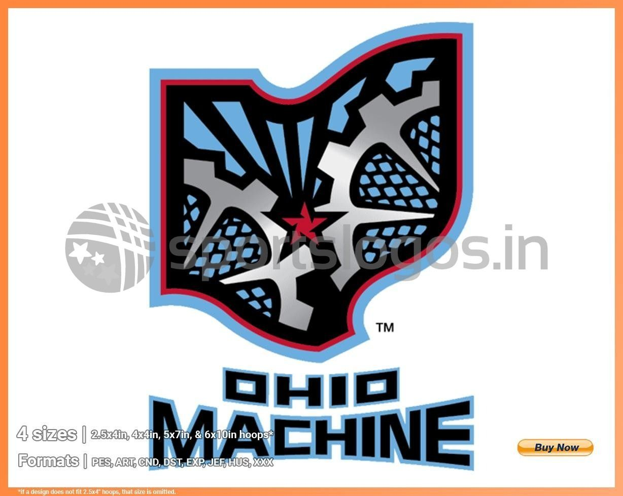 Ohio Machine Misc Sports Embroidery Logo In 4 Sizes Spln003173 Sports Logos Embroidery Vector For Nfl Nba Nhl Mlb Milb And More In 2020 Embroidery Logo Sports Logo Sports