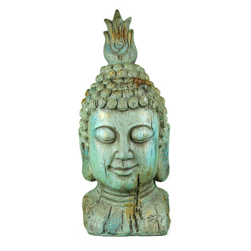 World Menagerie Costillo Polyresin Buddha Head Figurine Wayfair 4516 Hi Buddha Head Buddha Figurine Buddha