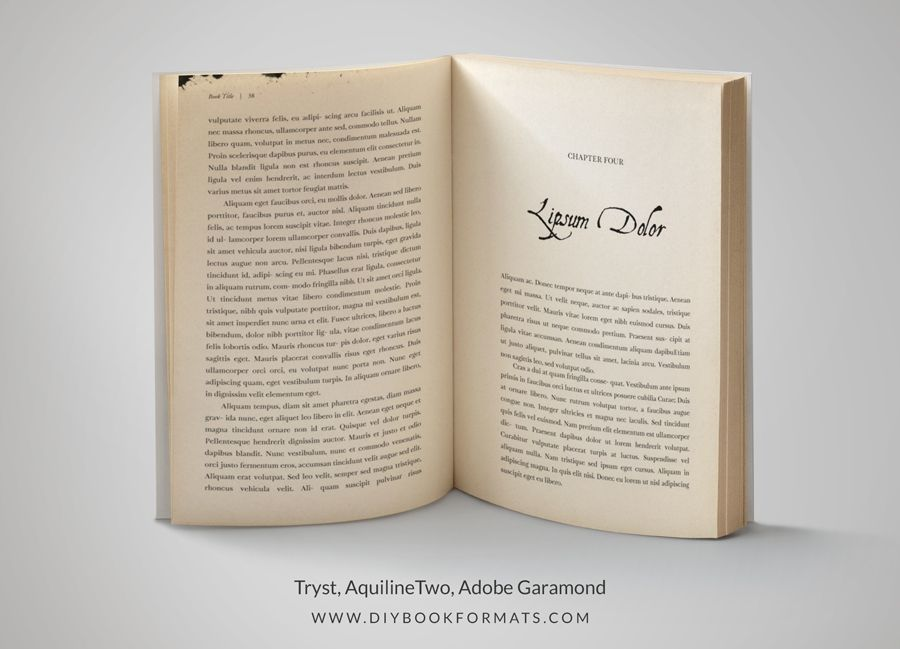 inDesign book formatting layout template | Book Formatting ...