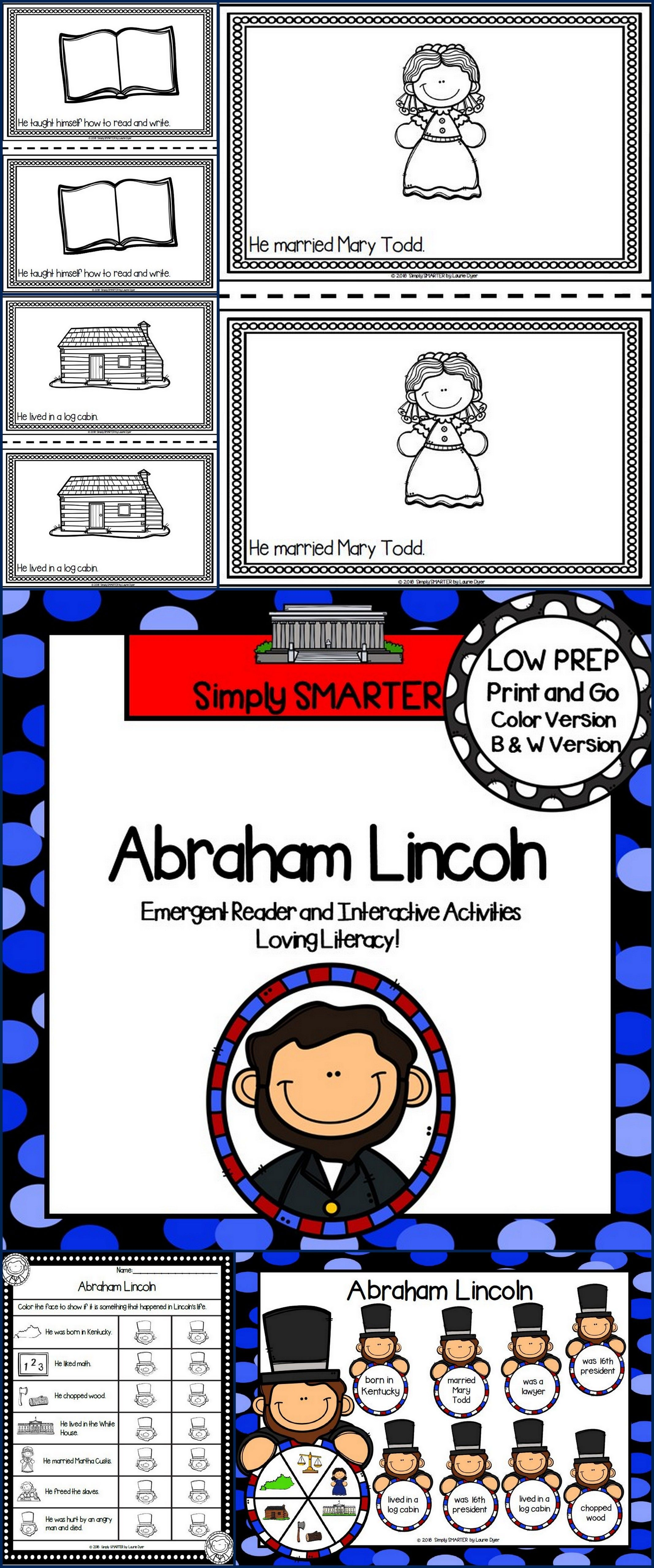 Abraham Lincoln Activities For Elementary