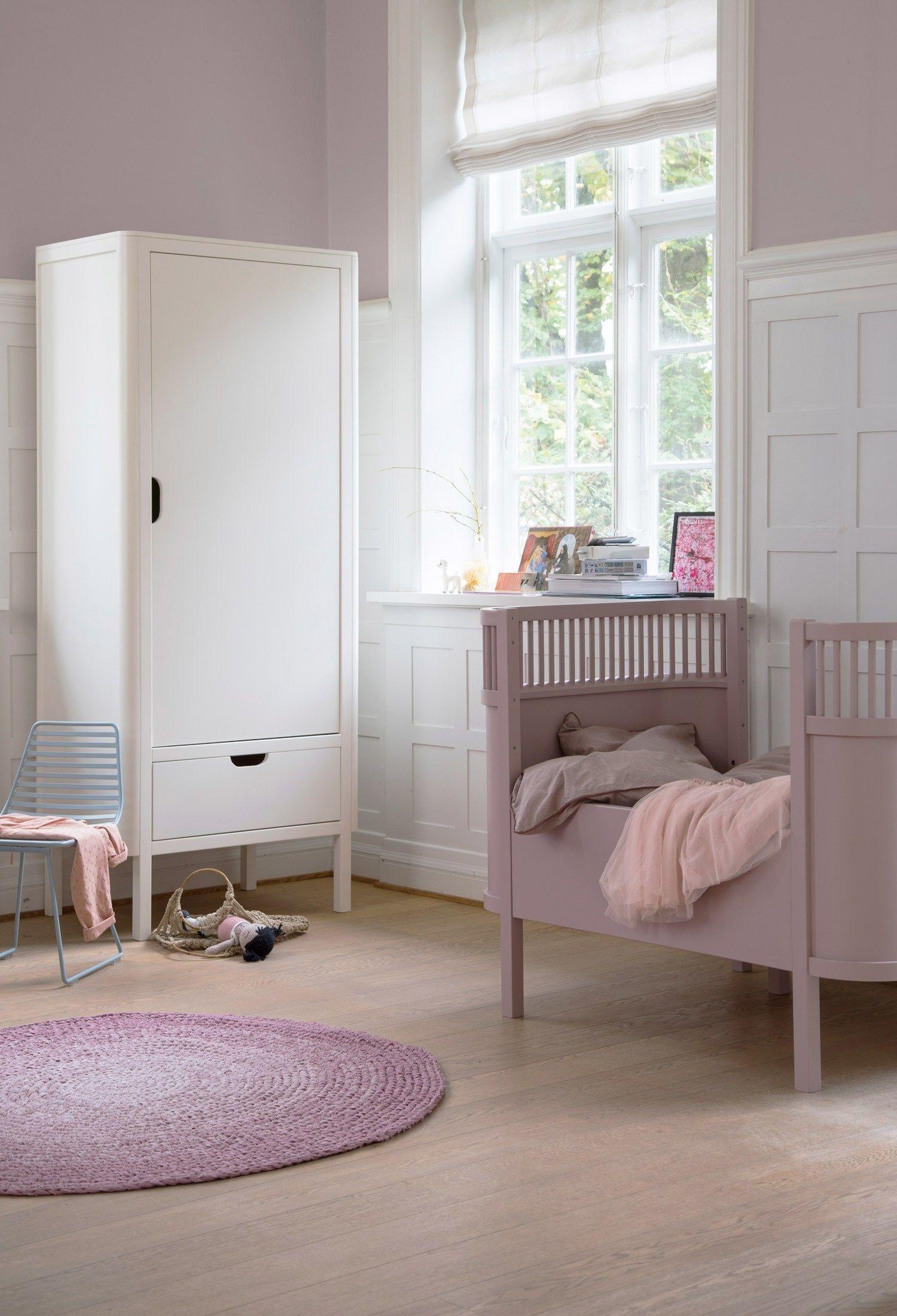 Baby Juniorbett In Altrosa Ausziehbar Auslauf Kinderkleiderschrank Kinder Schrank Kinderschrank