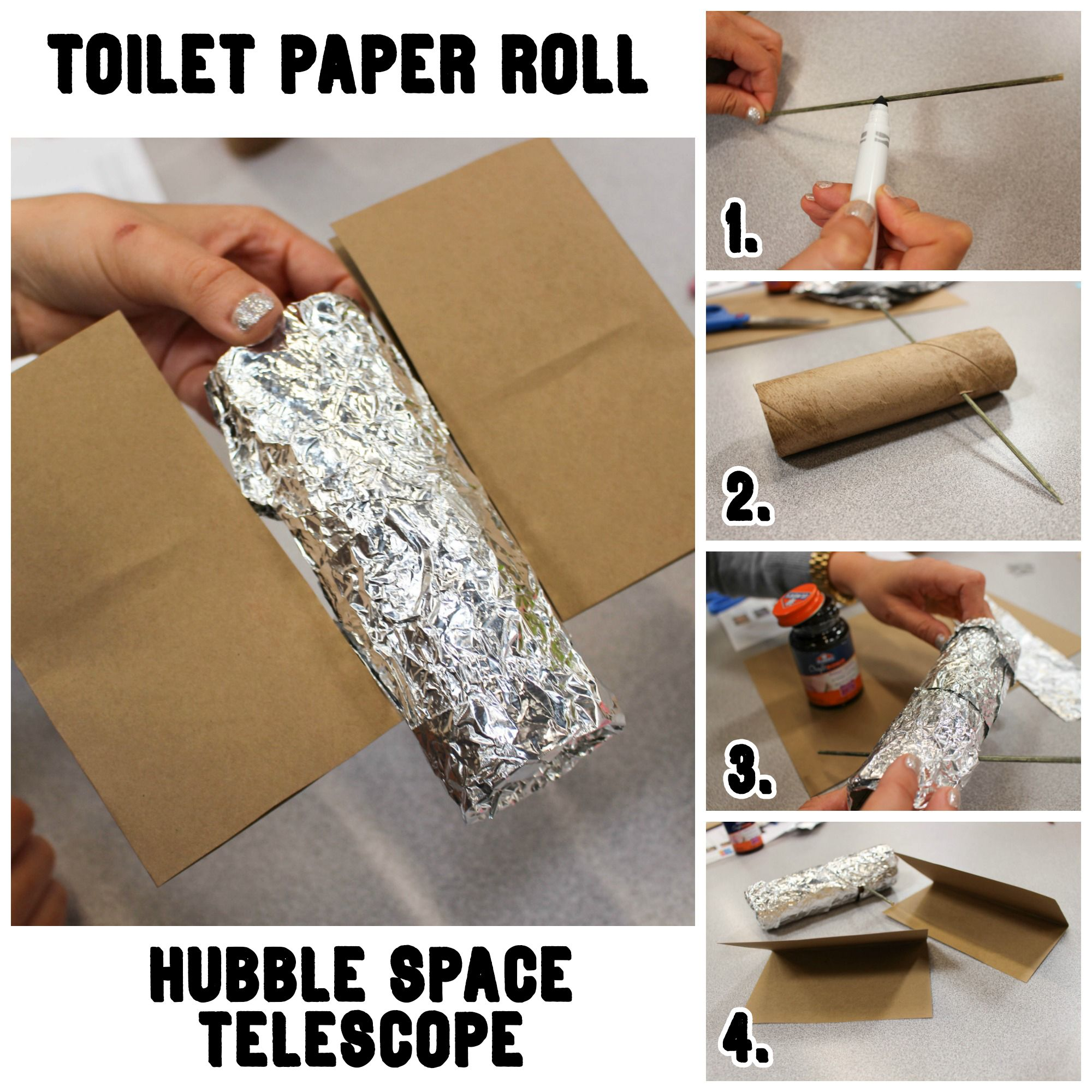 Toilet Paper Roll Hubble Space Telescope Crafts Project