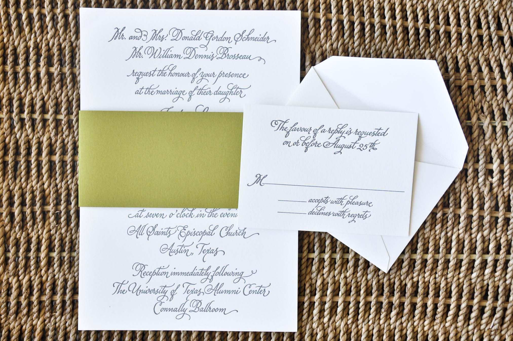 Pop Of Color Wedding Invitations Inviting Affairs Austin