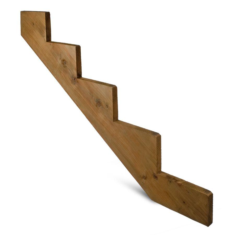 Severe Weather 5 Step Pressure Treated Hemlock Fir Deck Stair | Wood Stair Stringers Lowes | Deck Stair Tread | Pressure Treated Pine Stair | Severe Weather | Outdoor Stair | Stair Railing