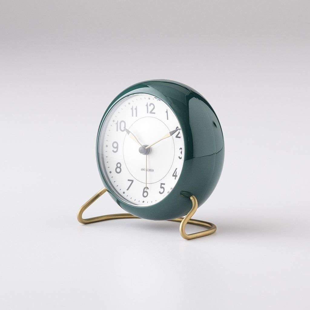 Arne Jacobsen Alarm Clock Green In 2020 Retro Alarm Clock Vintage Alarm Clocks Alarm Clock