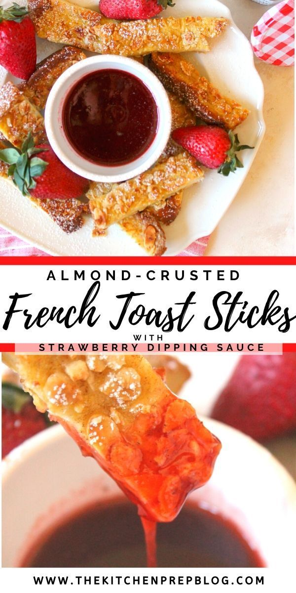 Photo of Almond-Crusted French Toast Sticks with Strawberry Dipping Sauce