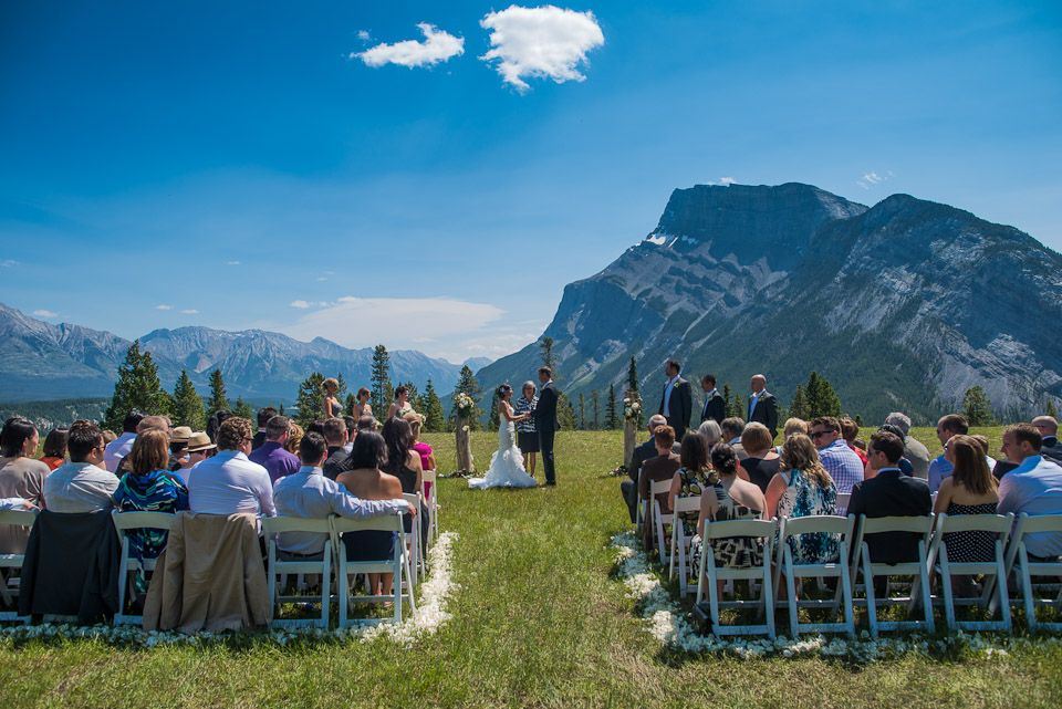 Wedding At The Tunnel Mountain Meadow