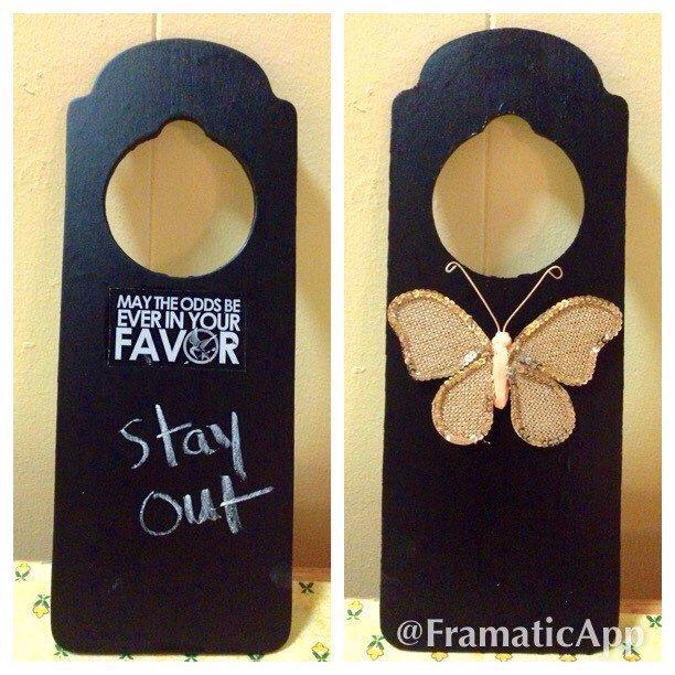 Door Knob Hanger, Chalkboard Door Hangers, Hunger Games Door Knob Hanger, Decorative  Door