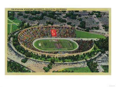 The Old Football Stadium California Art Palo Alto Stanford California