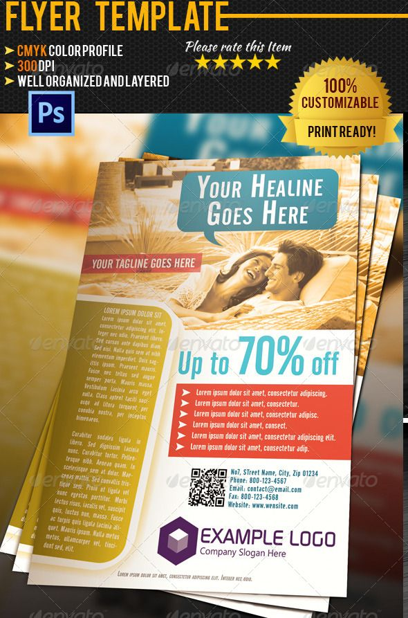 Hotel Flyer Template Flyer Template Business Flyers And Template