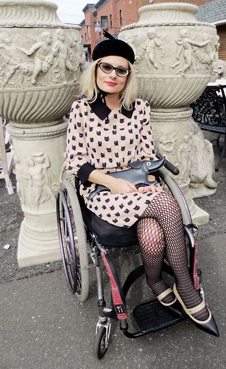 Wondrous Disabled Wheelchair Girl Street Style Wearing Cat Fashion Download Free Architecture Designs Itiscsunscenecom