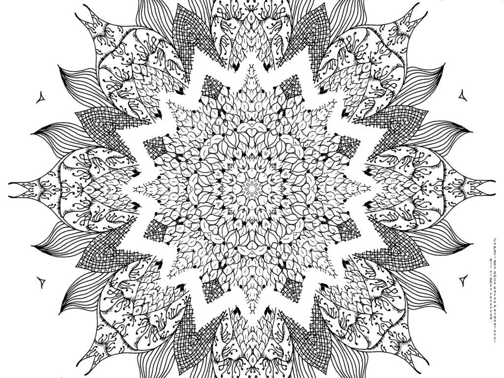 Free Mandala Coloring Pages Printable