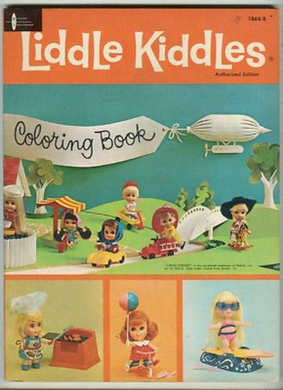 """1967 """"LIDDLE KIDDLES"""" Coloring Book"""