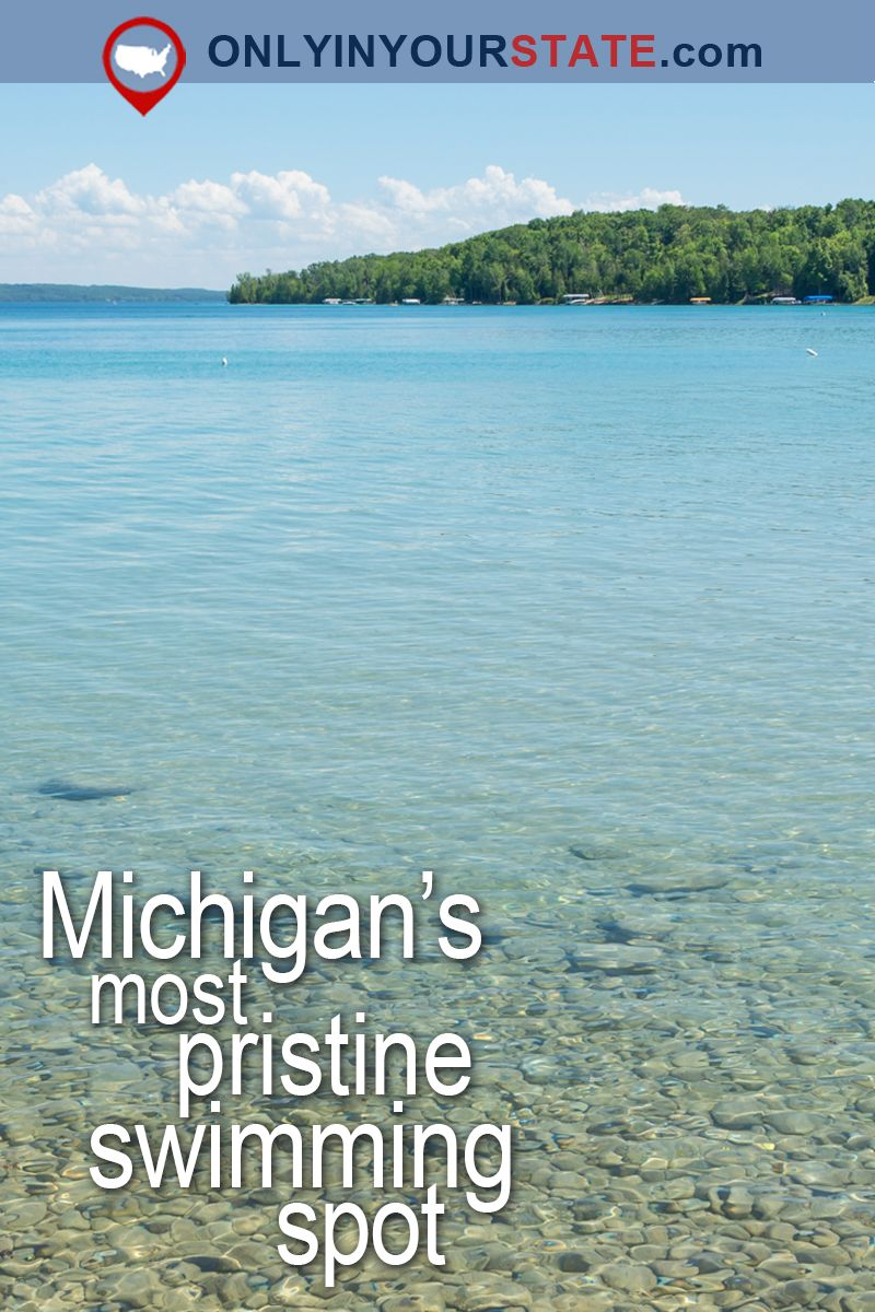 This Swimming Spot Has The Clearest Most Pristine Water In Michigan Michigan Travel Michigan Vacations Traverse City Michigan