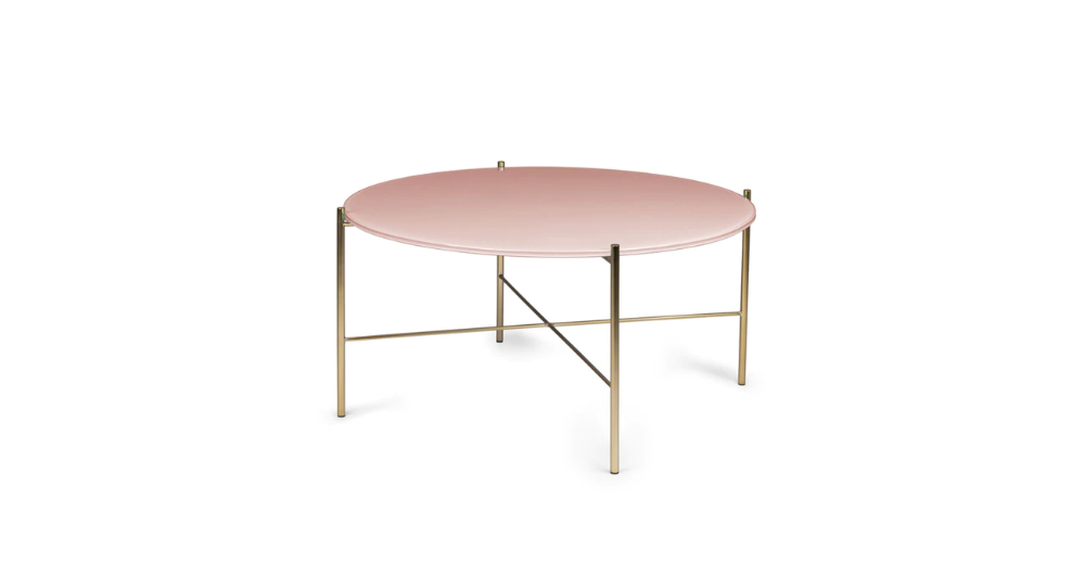 Silicus Pink Round Coffee Table Coffee Tables Modern Mid Century And Scandinavian Furniture Contemporary Coffee Table Round Coffee Table Glass Side Tables