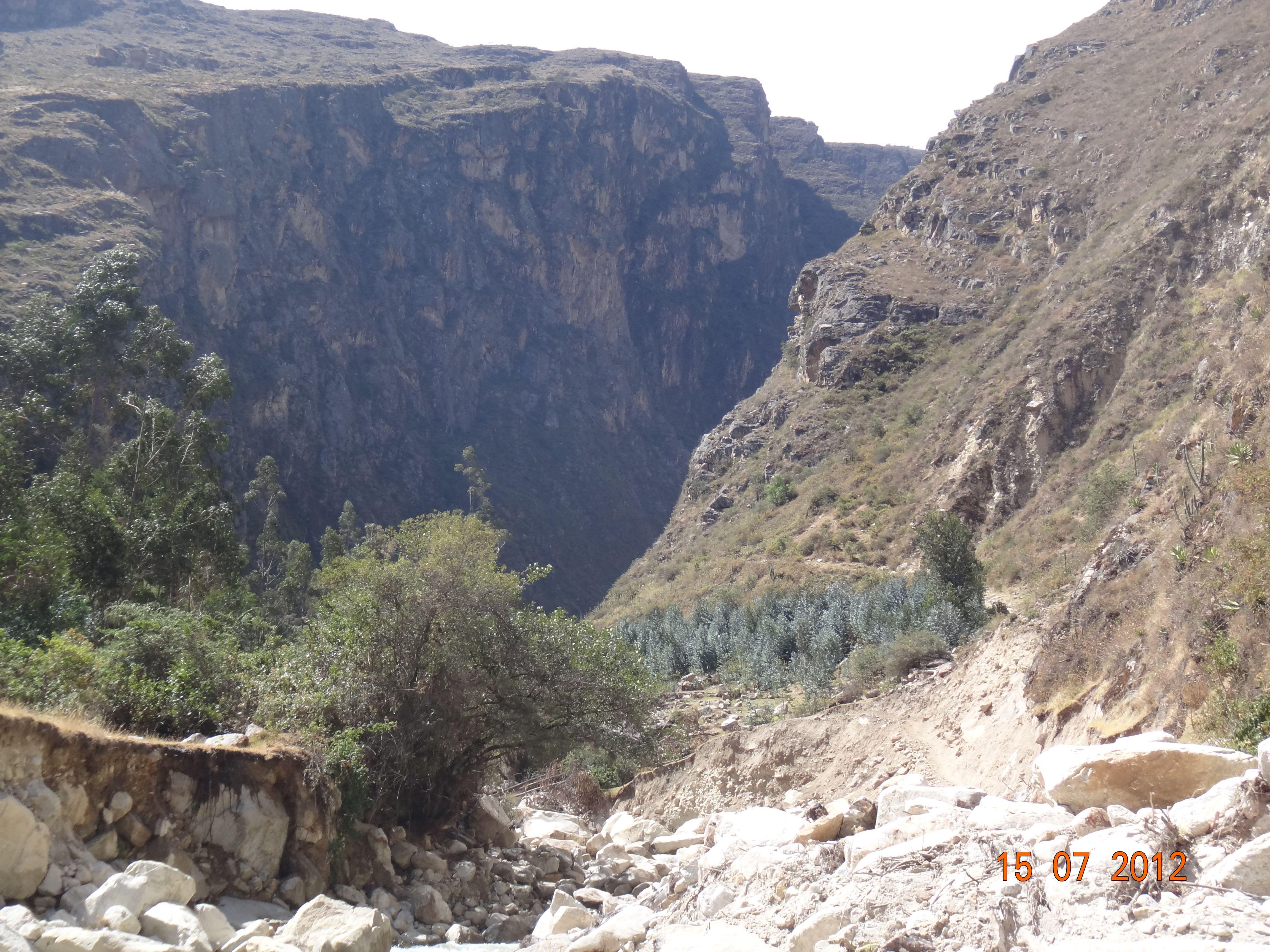 Trilha no Peru