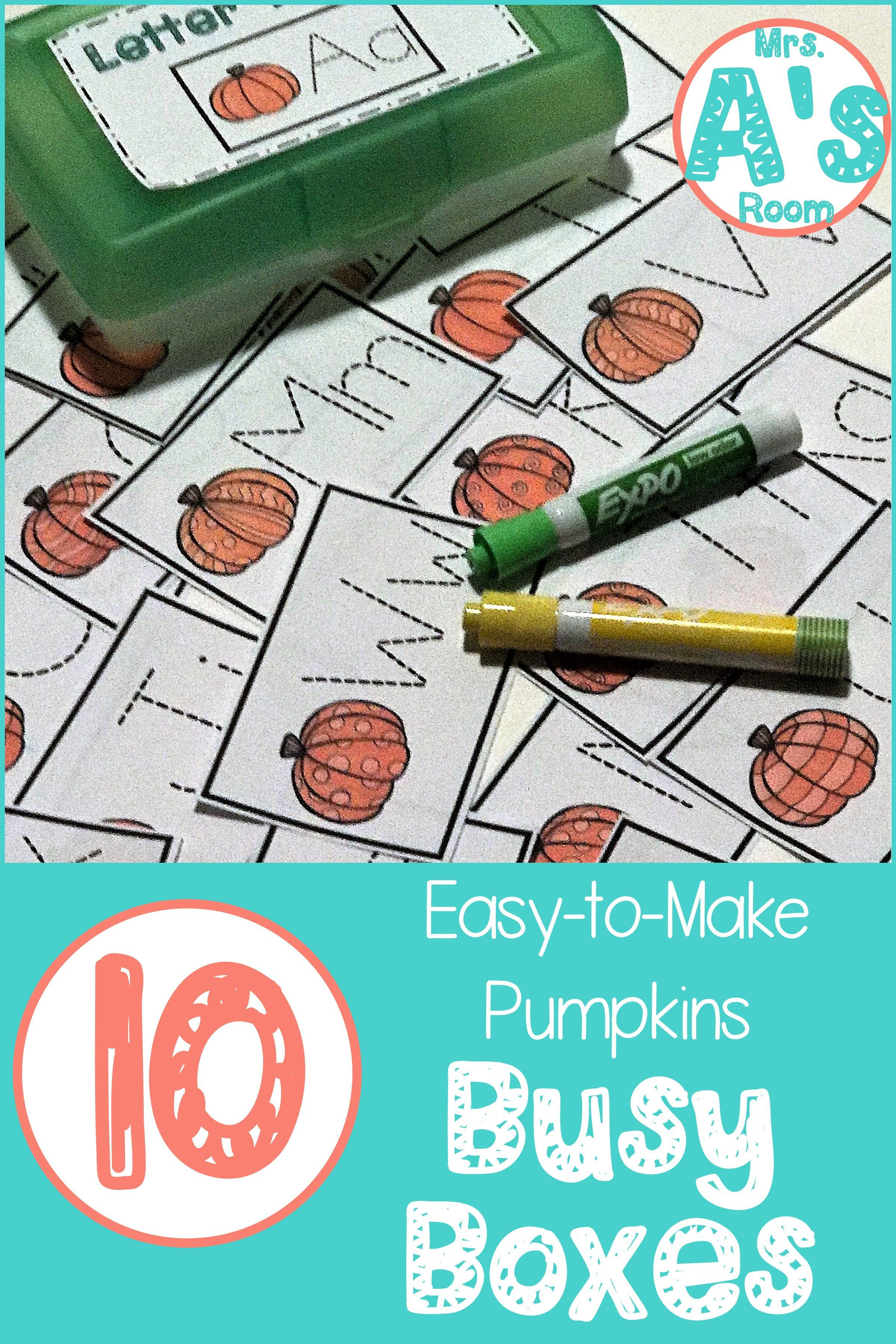 Ten Easy-to-Make Pumpkins Busy Boxes | Centers | Pinterest ...