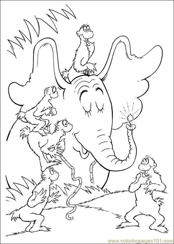 Coloring Pages Horton 64 Cartoons Horton Free Printable Coloring Page Online Dr Seuss Coloring Pages Dr Seuss Coloring Sheet Cool Coloring Pages